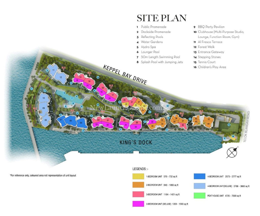 Corals at Keppel Bay Site Plan
