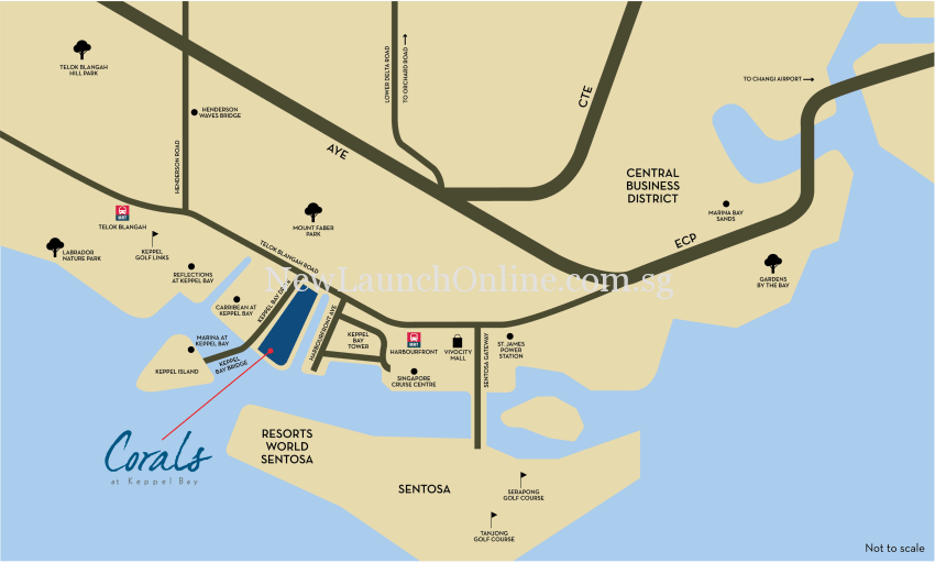 Corals at Keppel Bay map