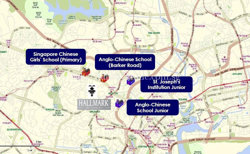 Hallmark Residences Nearby schools