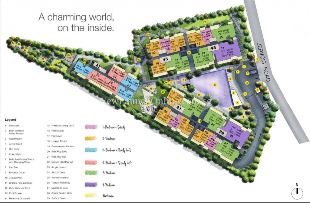 Mon Jervois Site Plan